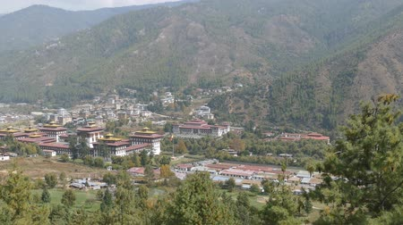 bhutan : The Kingdom of Bhutan - a country in South Asia, located between India and China. Capital - the city of Thimphu. Stock Footage