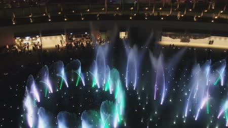 Musical fountain show at Jaber Al Ahmad Cultural Centre, Kuwait