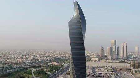 Al Tijaria Tower in Kuwait City. (aerial photography)