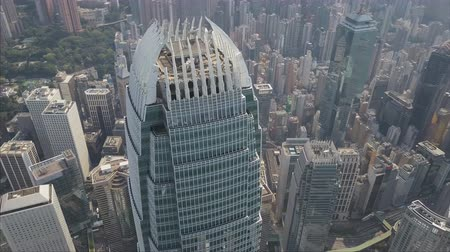 International Trade Centre - het hoogste gebouw in Hong Kong Stockvideo