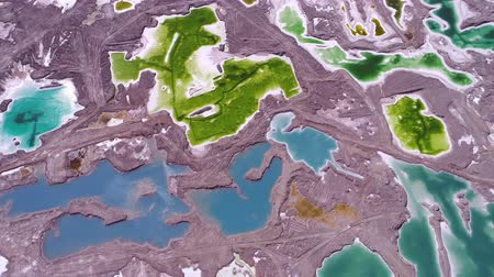 colorful geothermal landscape in Iceland (aerial photography)