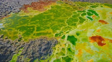 Dallol volcano Danakil depression Ethiopia (aerial photography) Stockvideo