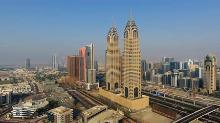 UNITED ARAB EMIRATES - Dubai modern architecture Archivo de Video