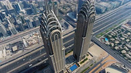 UNITED ARAB EMIRATES - Dubai modern architecture Stockvideo
