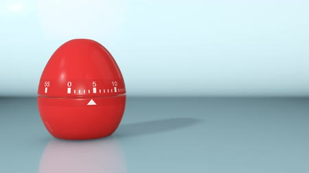 kopya : one egg timer with countdown, whet it arrives at zero it explodes and the text: deadline, falls from above, empty space at the right (3d render) Stok Video