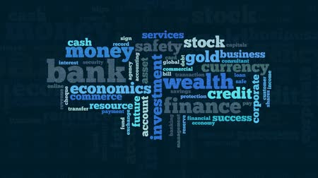 security agencies : word cloud with terms about banking and finance, flat style