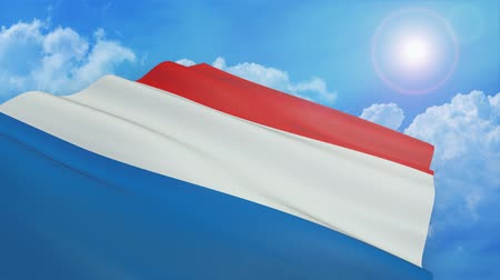 Close-up view of the flag of france on white background - 3d render - alpha mask - loop