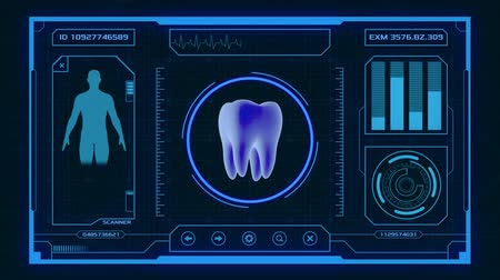 futuristic interface for medical and scientific purpose - tooth scanner