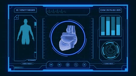 futuristic interface for medical and scientific purposes - human heart scanner
