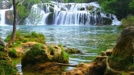jungle : Waterfall in the park KRKA. Croatia