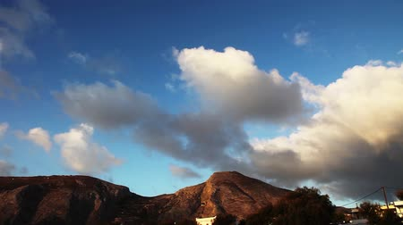 picos : Clouds over the mountains, rocky mountains USA. Timelapse