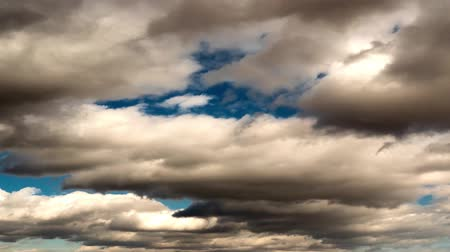 puffy clouds : Cloud Time Lapse Stock Footage