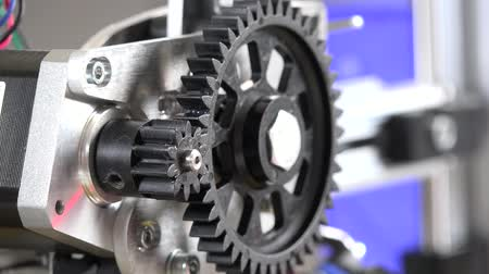 mecânica : The gears in a mechanical gearbox Stock Footage