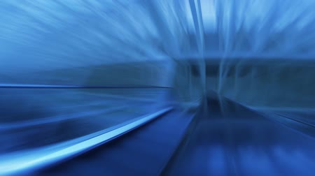 blur : tunnel, abstract with motion blur and glow