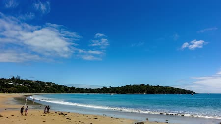 paraíso : Timelapse of the beautiful paradise beach on the coast of sea bay of Andaman sea at the New Zealand