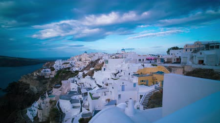 УВР : Sunrise and sunset time lapse in Santorini, Oia Greece