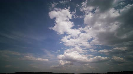 Clouds on blue sky time lapse Стоковые видеозаписи