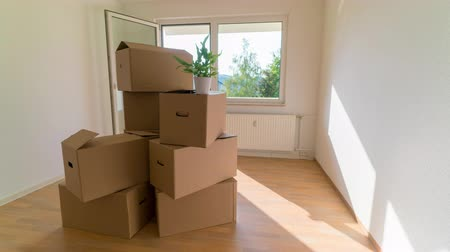 deslocalização : Lot of Boxes For Moving, Cardboard boxes