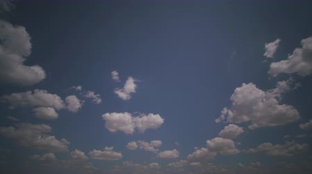 celestial : White clouds flying on blue sky Stock Footage