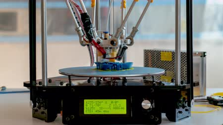 filaman : 3D Print processing on delta construction 3d printer time lapse