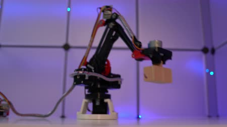 Prototype industrial robot arm in the laboratory of automation
