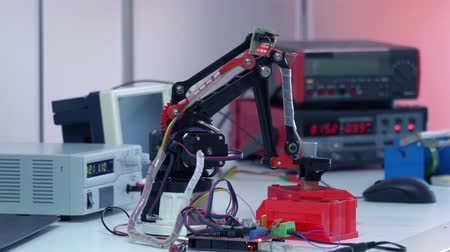 Prototype industrial robot in the laboratory of automation. Concept of Robot Arm