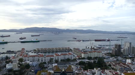 beautiful panorama from the top of the rock of Gibraltar on a british land in spain