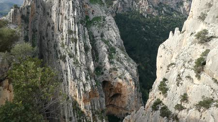 malaga : beautiful rocky landscape of camino del rey at el chorro in andalusia in spain