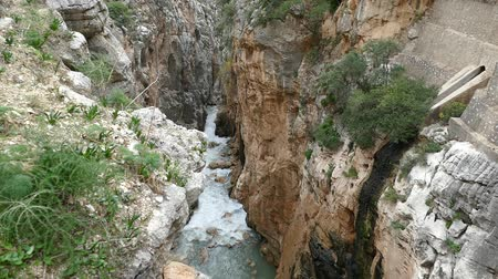 přirozeně : beautiful rocky landscape of camino del rey at el chorro in andalusia in spain