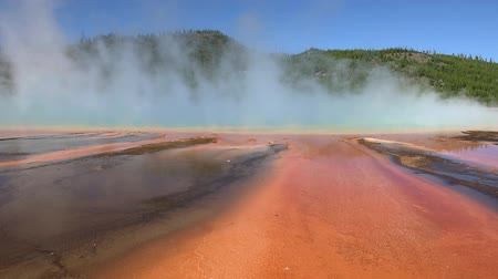 Grand Prismatic Spring in Yellowstone National Park 影像素材