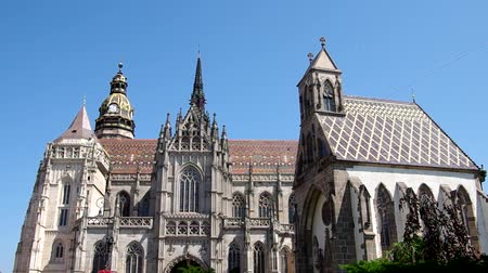 Československo : Cathedral of Saint Elizabeth and the main square in Kosice, Slovakia