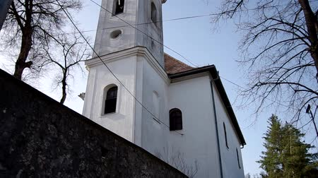 evangelical : Evangelical Reformed Church was built in. 1786 in Gemerská Horka, district Roznava, Slovakia Stock Footage