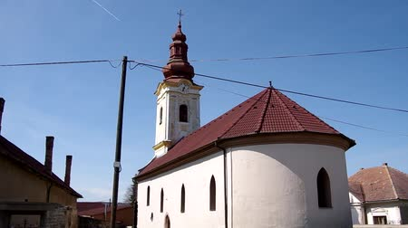 evangelical : The Evangelical church of Baroque style from 1801 in Gemerská Panica, district Roznava, Slovakia Stock Footage