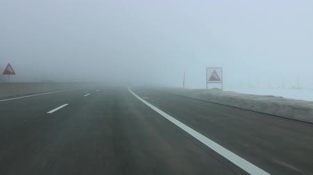 var : Car Driving Highway during Foggy day