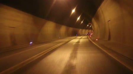 johann : Car driving highway and through tunnel