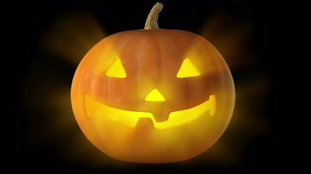 Seamlessly loopable HD video cyclical glowing jack-o-Lantern. Dostupné videozáznamy