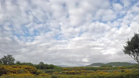 argyll : Time Lapse of clouds moving fast over the bay