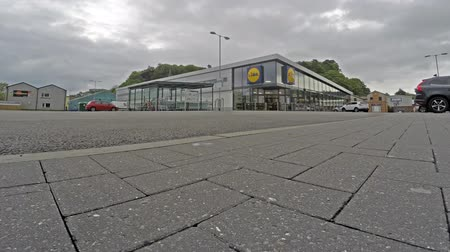 argyll : Oban  Scotland - May 15 2017 : People shopping at the Oban Lidl store