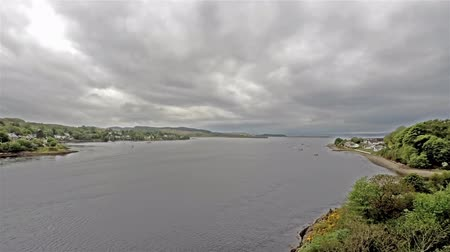 argyll : 8 hours time lapse of Connel and the Falls of Lora seen from the Connel bridge