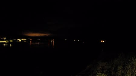 argyll : 8 hours time lapse of Connel and the Falls of Lora seen from the Connel bridge - at night