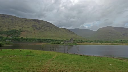 kilchurn : The ruins of historic Kilchurn Castle and jetty on Loch Awe