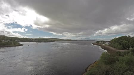 argyll : Time lapse from 3pm until 6pm of the Lora Falls seen from Connel Bridge, Argyll