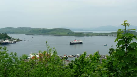 argyll : Oban  Scotland - May 30 2017 : Ferry leaving the harbour of Oban, Argyll