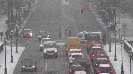 kíséret : Munich  Germany - February 17 2018 : Police is controlling the traffic during the Munich Security Conference