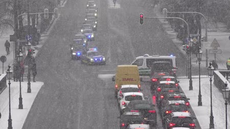 bomber : Munich  Germany - February 17 2018 : Police is controlling the traffic during the Munich Security Conference