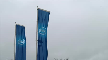 intel : Neubiberg  Germany - February 16 2018 : The European headquarter of Intel is located close to Munich since 1974 Stock Footage