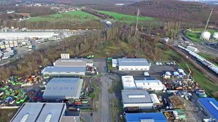 distillation : Moers  Germany - January 03 2016 : Aerial of the industrial area Eurotec with the view from Rinnen to Ineos