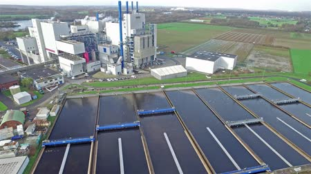 purificado : KREFELD  GERMANY - DECEMBER 19 2015 : Garbage incineration plant working together with the purification plant