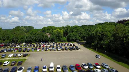 rytíř : Utrecht  Netherlands - June 03 2017 : Landing on the parking lot of the De Haar castle near Utrecht, Netherlands