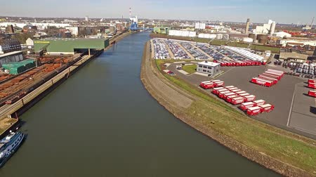 storing : Neuss  Germany - April 06 2018 : Ansorge is operating from the harbour of the city